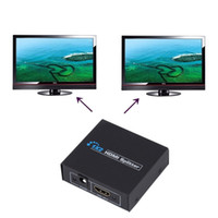 Wholesale 4k dvd for sale - 4K K V1 HDCP HDMI Splitter Full HD p Video HDMI Switch Switcher X2 Split in Out Amplifier Dual Display For HDTV DVD PS3 Xbox