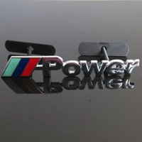Wholesale Bmw Car Badges - Car Metal 3D Power Logo Front Grille Badge Emblem For BMW 3 5 7 Series X1 X3 X5 Free shipping YY186