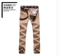 Wholesale Popular Business Suit - Wholesale-Business Men Solid Colors Suits Pants 11 Color Cotton Fashion Trousers Dress Pants Popular New Style Hot Sale Pants