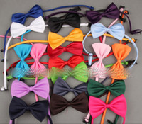 Wholesale baby cravats for sale - Group buy Children Baby Necktie Neck Ties Boys Girls Bow Silk Tie Candy Color School Tie Cravat Bowtie Kids Wedding Bow Ties color