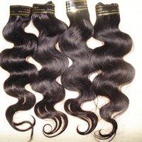 coiffures tissées péruviennes achat en gros de-Coiffure à la mode 10 faisceaux / lot traité 7A Body Wave Péruvien Tissage de Cheveux Humains Livraison Rapide DHL Pas Cher Prix
