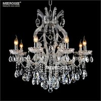 Wholesale Led Maria Theresa Chandelier - 8 light Crystal Chandelier Light Fixture Maria Theresa LED Crystal Luster Lamp for Lobby Stair Hallway project MD8475