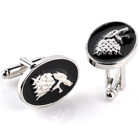 Wholesale Mens Shirts For Cufflinks - House Stark Wolf Head Game of Thrones Cufflinks For Mens And Women Shirt Brand Cuff Buttons High Quality Vintage Cuff Links 6