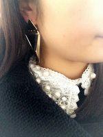 индийская модная мода оптовых-Золотые серьги для женщин черный заявление серьги мода серьги для женщин 2015 brincos de festa ouro grandes индийский ювелирные изделия