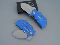 Wholesale Mini Boker Hunting Knife - New BOKER Plus Mini Small Rhino Red Blue handle knife 440C 56HRC Blade,EDC pocket knifes knives with Retail box packaging