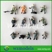 Wholesale Ho Model Train Wholesalers - 25pcs ho scale model railway workers action architecture model people train layout work figures