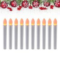 beyaz yılbaşı ağacı açtı toptan satış-Yeni Tasarım Sıcak Beyaz Elektronik Alevsiz Led Mumlar Işık Doğum Günü Düğün Armatürleri Yeni Yıl Noel Ağacı Dekorasyon Ev Için