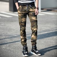 Wholesale Jeans Casual Trousers Overalls - Wholesale-2016 New Fashion Camo Jogger Pants Camouflage Casual Trousers Overalls Jeans Pants Pants for Man Free Shipping
