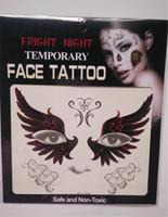 шаблоны для трафаретной печати оптовых-Fright Night Временные татуировки для лица Боди-арт Цепочки для переноса татуировок Временные наклейки на складе 9 Стили высокого качества