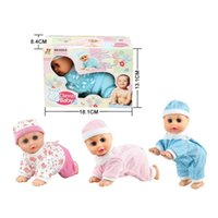 Vente en gros-Lovely Baby Infant Early Learning Jouet Dites Maman Daddy rire Poupée Crawl Electric Musique Ramper Bébé Parler Singing Dancing Doll
