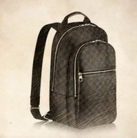Wholesale Luxury School Bags - Top Quality Genuine leather School Backpack bag Backpack For Man Fashion Designer Backpack With Luxury Logo LOU