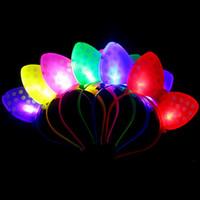 actividades de suministros para la fiesta al por mayor-2016 hot flash Bow Hair Hoop Horquilla Novedad Iluminación Regalo de Navidad Decoración Fiesta de Concierto Suministros de Actividad