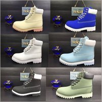Wholesale Martin Clear - Waterproof Original Quality Martin Ankle Boots Brand New Mens Work Hiking Shoes Leather Outdoor Winter Snow Boots multi colors Size 5.5-13