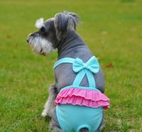 Wholesale Pet Sanitary Pants - 2016 new Pet Dog Cat Clothes Cotton Fashion Suspender Pants Physiological Underwear PetsTighten Sanitary Briefs Jumpsuits Pants