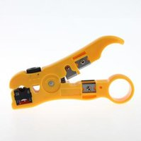 Wholesale Universal Cutting Tools - Universal Pliers Cable Wire Stripper Jacket Strippers Cable Cutter Stripping Scissors Tool Yellow Color Hand Tools CCA7809 200pcs