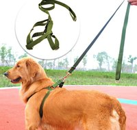 Wholesale Cheap Leashes For Dogs - Army Color Nylon Dog Cat Pet Leash Collar Cheap Dog Lead Rope Solid Pet Training Collar Leash For Large Pets Pet Supplier 10PCS LOT