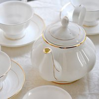 Hot-selling Bone China Ceramic d'Angleterre15 Coffee Sets Moda Coffee Pot Cup e Saucer Gift Set