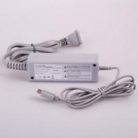 controlador de carga de energía al por mayor-Wii U GamePad Adaptador de corriente alterna Fuente de alimentación Cargador de pared Cable de carga USB Cable para Wii U GamePad Controlador Reemplazo de EE.UU. Enchufe de la UE