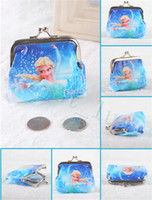 Wholesale Cheap Small Purses Wholesale - New Arriving Cheap Frozen Designs Cartoon PVC Waterproof Coin Purse Key Holder Small Frozen Wallet Pocket Kids Gift Free Shipping HJ2