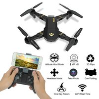 TIANQU RC Drones Drone Mini Drone con 2MP WiFi Cámara HD Quadcopter plegable WiFi FPV RTF Dron Altitud Hold RC Helicóptero + NB