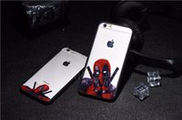 Wholesale Iphone 5s Case Cool - 3D Super Cool Marvel Hero Deadpool Coque Fundas Black Soft Silicone Case For iPhone 5 5S 6 6S 6Plus SE Cover Case