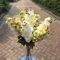 Wholesale Decor For Displays - Silk Flowers For Home Decoration Artificial Flowers Display Garden Plastic Ribbon Pompom Home Decor Fake Silk Flowers QQC311