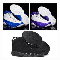 Wholesale Increasing Muscle Size - Wholesale Air Retro 9 IX Anthracite Black White Bule Man Basketball Shoes Purple GS Athletics High Quality Size 5.5 13 Free Shipping