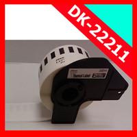 Wholesale Dk Labels - Wholesale-20 Rolls Brother Compatible DK-22211 Continuous DK-2211 White Film Label 29mm*30.48M Etiquette Adhesive Sticker