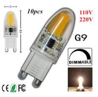 Wholesale G9 Led Ceramic - Dimmable LED Lamp G9 cob 110V 220V 6W Mini Ceramic Crystal High Power High Transmittance 360 Degree Spot Light Free Shipping