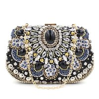 Wholesale Handmade Purse Crystal - 2016 Fashion Handmade women lady purses handbags rhinestone diamond crystal clutch evening bags 3 colors hot sale