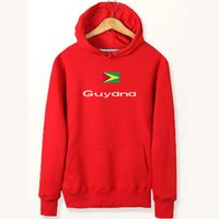 Guyana Flagge Hoodies Nationale Wort Design Sweat-Shirts Land Fleece Kleidung Pullover Sweatshirts Outdoor-Sport-Mantel Gebürstete Jacken