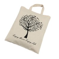 Wholesale Beige Tree - Environmental Pure Cotton Tote Bag Shopping bags - Music Tree Beige