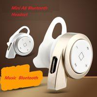 Wholesale Apple Product Mix - Newest Product Earphones & Headphones A8 Bluetooth headset stereo mini binaural Universal Bluetooth 4.0 wireless headset B1016