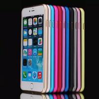 Wholesale Galaxy S4 Thin Bumper - Aluminum Metal Hard Case Ultra Thin Slim Frame Bumper Cover For iPhone 7 Plus 6 6S SE 5 5S Samsung Galaxy S6 S5 S4 Note 4 3 MOQ:100pcs