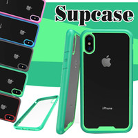 Wholesale Protection Shock - For iPhone X Supcase Case Strong Armor Shock Drop Proof Anti Scratch Clear Panel Slim Protection Beatles Classic Cover For Samsung S8 Plus