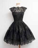 prenses kadın gelinlik toptan satış-Kadınlar Seksi O Boyun Dantel Hollow Out Yüksek Bel Düğün Parti Mini Tutu Kısa Akşam Prenses Elbise