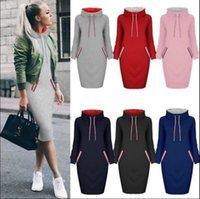 Wholesale Wholesale High Collar Hoodies - Women High Collar Hoody Sweatshirt Long Sleeve Choker Sweater Hoodies Jumper Winter Dress 6 Colors OOA3344
