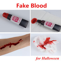 Wholesale Blood Fasting - Fake Blood Bleeding Gel Plasma Makeup Stage Tube for April fool Day Halloween Party DHL fast shipping