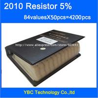 Wholesale Carbon Sample - Wholesale- Free shipping 2010 SMD Resistor Sample Book 5% Tolerance 84valuesx50pcs=4200pcs Resistor Kit 0R~910K