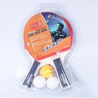 Wholesale tennis rackets prices resale online - Long Handle Table Tennis Rackets Sets Pimples in Rubber Bat for Kids Training Low Price Racket With Retail Packaging