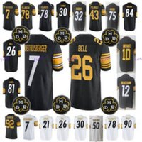 Wholesale Recycled Silk - Men 84 Antonio Brown 78 Alejandro Villanueva 92 James Harrison 10 Martavis Bryant 21 Joe Haden 19 Juju Smith Schuster 12 Bradshaw