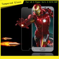 Wholesale Screen L9 - For LG X Power Volt 3 K210 K6 K6P Boost Mobile For Galaxy A7 2016 Galaxy A5 2016 Tempered Glass Screen Protector Film
