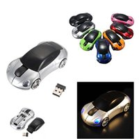 Wholesale Mice Shape Usb - Fashion 2.4GHz 3D Optical Wireless Mouse Mice Car Shape Receiver USB Mini Mice For PC Laptop