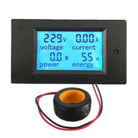 Wholesale Lowest Promotion Price AC A Digital LED Power Panel Meter Monitor Power Energy Voltmeter Ammeter