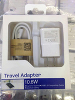 Compra Kit Mobile-2 in 1 Kit caricabatterie USB 2.0 EU / US Plug Adapter per Samsung S4 S3 S5 S6 Smart Mobile phone