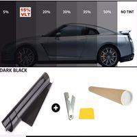 Wholesale Office Window Film - Wholesale- Convenient 50cm X 7m 15% Limo Black Car Auto Van Window Glass Tint Film Mirror Tinting Decorative Films House Office