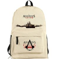 Wholesale Designer Goods - Desmond Assassins creed backpack Altair role school bag Designer Assassin daypack Hot sale schoolbag Good quality day pack