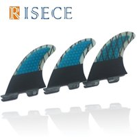 Wholesale Surfboard Fin Set - High quality FCS2 Fins G5 Blue Carbon Surf Fins FCS II Quilhas Surfboard Fin Thruster Surfboard G5 Fin Set Up