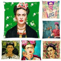 Almofada Frida Kahlo Pillow Case Firme Flor auto-retrato Sofá Borboleta Quarto Home Decorative Throw Pillow Cover