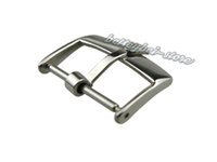 Wholesale 18mm Strap - 18mm Support Wholesale New watch band pin buckle Silver polished High quality Solid Stainless Steel for strap brand crown